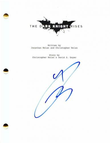 Tom Hardy Signed Autograph - The Dark Knight Rises Movie Script - Christian Bale
