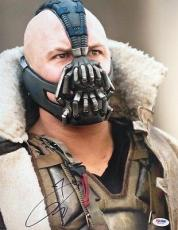 TOM HARDY SIGNED AUTOGRAPHED 11x14 PHOTO BANE BATMAN DARK KNIGHT RISES PSA/DNA
