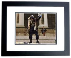 Tom Hardy Signed - Autographed BANE - Batman 11x14 Photo BLACK CUSTOM FRAME - The Dark Knight Rises