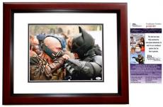 Tom Hardy Signed - Autographed BANE - Batman 11x14 Photo MAHOGANY CUSTOM FRAME - The Dark Knight Rises - JSA Certificate of Authenticity