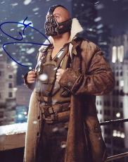 TOM HARDY signed *THE DARK KNIGHT RISES* BATMAN Bane 8X10 photo VILLAN W/COA #7