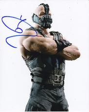 TOM HARDY signed *THE DARK KNIGHT RISES* BATMAN Bane 8X10 photo W/COA #7