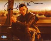 "Tom Hiddleston Autographed 8"" x 10"" Thor Hands Together Photograph - Beckett COA"