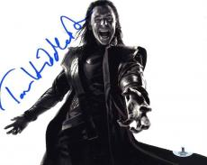 Tom Hiddleston 'Avengers' Autographed Signed 8x10 Photo Beckett BAS COA