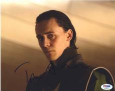 Tom Hiddleston Avengers Loki Autographed Signed 8x10 Photo PSA/DNA COA