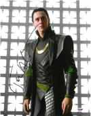 Tom Hiddleston LOKI Signed The Avengers Autographed 11x14 Photo PSA/DNA #AB35634