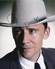 Tom Hiddleston Signed 8x10 Photo Hank Williams I Saw The Light Avengers Loki Coa