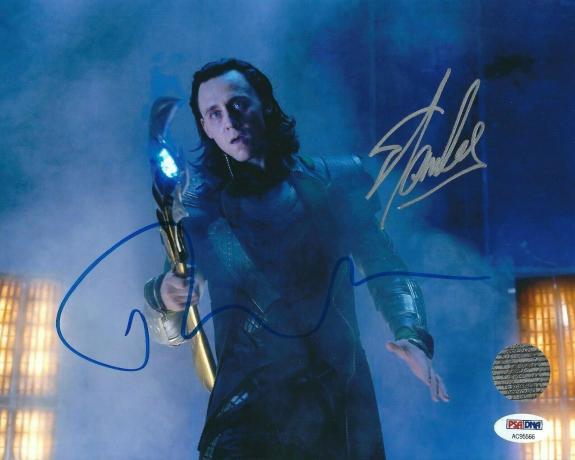 Tom Hiddleston & Stan Lee Signed 'Thor:Loki' 8x10 Photo PSA AC95566