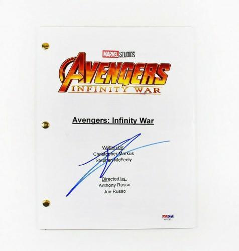 Tom Holland Avengers Infinity War Autographed Signed Script PSA/DNA COA