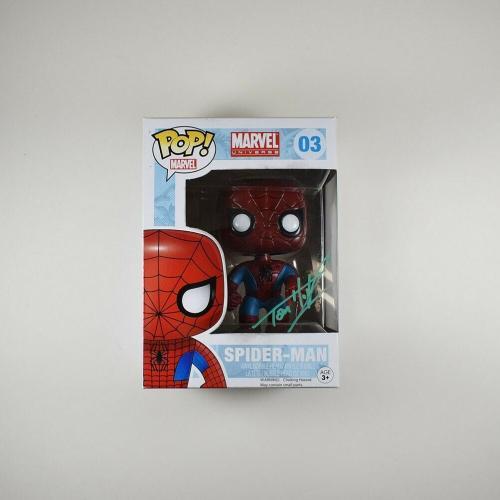 Tom Holland Spider-Man Endgame Avengers Autographed Signed Funko Pop PSA/DNA COA