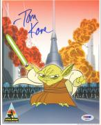 "TOM KANE ""Yoda"" Signed STAR WARS CLONE WARS 8x10 Photo PSA/DNA #AB63412"