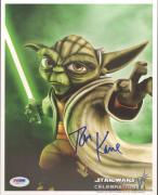 "TOM KANE ""Yoda"" Signed STAR WARS CLONE WARS 8x10 Photo PSA/DNA #U26777"