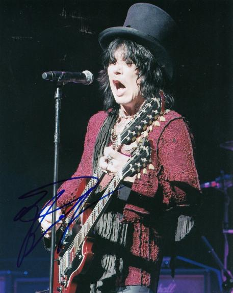 TOM KEIFER signed (CINDERELLA) MUSIC 8X10 photo *LEAD SINGER* W/COA #1