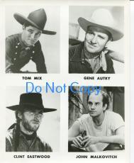 Tom Mix Gene Autry Clint Eastwood John Malkovitch Original Press Movie Photo