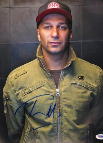 Tom Morello Autographed Signed 11x14 Photo PSA DNA AFTAL