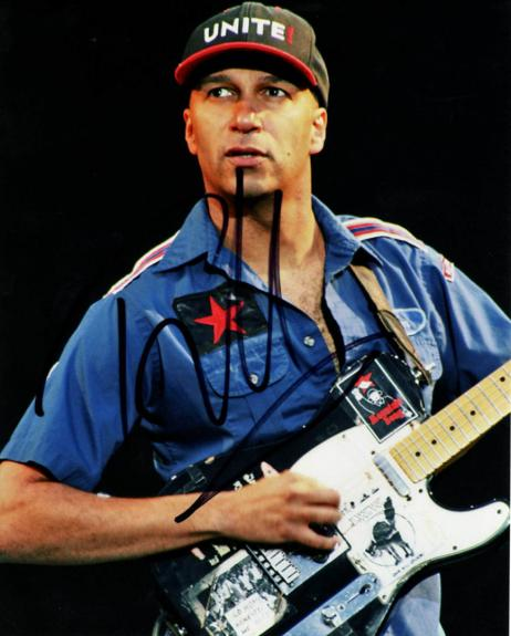 Tom Morello Autographed Signed 8x10 Concert Photo UACC RD AFTAL COA