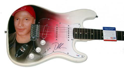 Tom Morello Autographed Signed Airbrush Guitar & Proof PSA DNA AFTAL