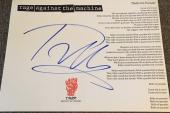 Tom Morello Rage Against The Machine Signed Autograph Bulls Custom Lyric Sheet