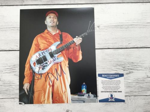 Tom Morello Signed 8x10 Photo Beckett BAS COA Rage Against The Machine a