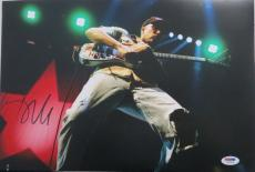 Tom Morello Signed Authentic Autographed 10x15 Photo PSA/DNA #Z80658