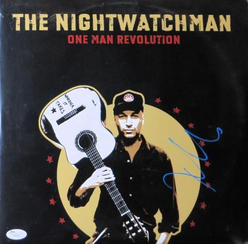 Tom Morello Signed Autographed Album Cover The Nightwatchman JSA U98880