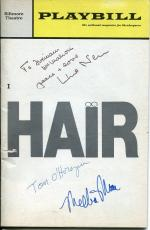 Tom O'Horgan Melba Moore & Unknown Hair Opening Night Signed Autograph Playbill