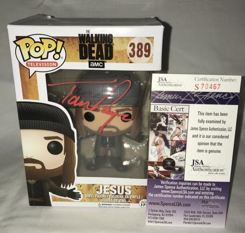 Tom Payne Signed   Autographed Jesus The Walking Dead Funko Pop Toy Doll Figurine - JSA Certified