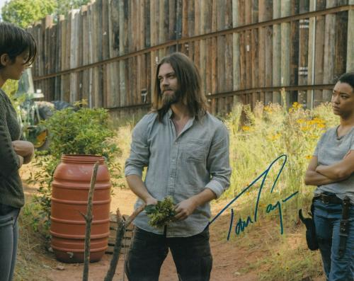 TOM PAYNE signed (THE WALKING DEAD) 8X10 photo *PAUL 'JESUS' ROVIA* W/COA #TP5
