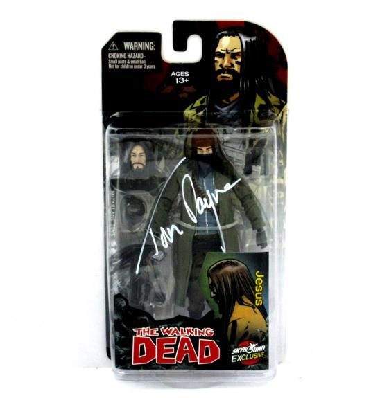 "Tom Payne Signed The Walking Dead Paul ""Jesus"" Monroe Color Action Figure"