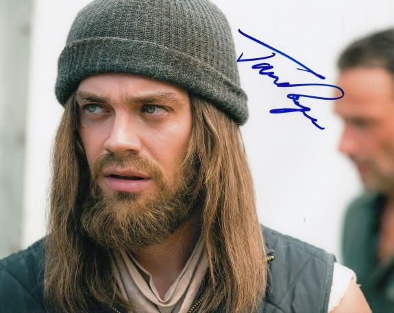 """TOM PAYNE signed (THE WALKING DEAD) TWD 8X10 photo """"PROOF"""" PAUL JESUS W/COA #5"""