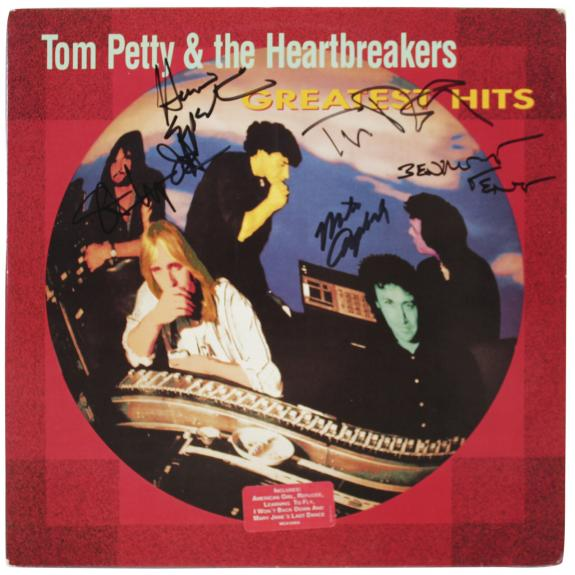 Tom Petty and the Heartbreakers (5) Band Signed Album Cover W/ Vinyl BAS #A57628