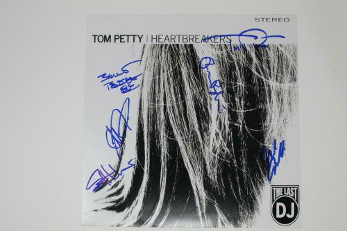 Tom Petty And The Heartbreakers Full Band X6 Signed Autograph Album Flat Real