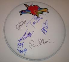 TOM PETTY and The Heartbreakers GROUP Signed DRUMHEAD + PSA DNA