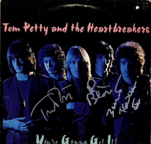 Tom Petty And The Heartbreakers Signed Youre Gonna Get It AFTAL UACC RD COA