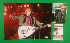 "Tom Petty Autographed 11""x14"" Original Color Photo Signed With Proof And Jsa Coa"