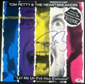 "Tom Petty Autographed ""Let Me Up (I've Had Enough)"" Album Signed PSA DNA COA"