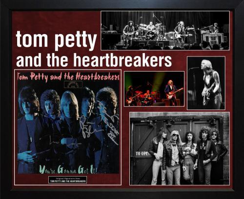 Tom Petty & Heartbreakers Signed Full Moon Fever LP Album Custom Framed Display