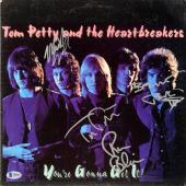 Tom Petty, Ron Blair, Benmont Tench, & Mike Campbell Autographed Tom Petty & The Heartbreakers You're Gonna Get It! Album - BAS COA