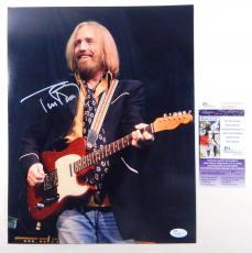Tom Petty Signed 11 x 14 Color Photo JSA Auto