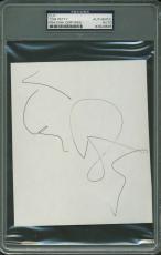 Tom Petty Signed Autographed 4x7 Vintage Album Page PSA/DNA Authentic