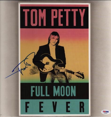 Tom Petty Signed Full Moon Fever Record Album Psa Coa Ad48282