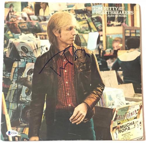 Tom Petty signed hard promises album autographed the Heartbreakers beckett coa