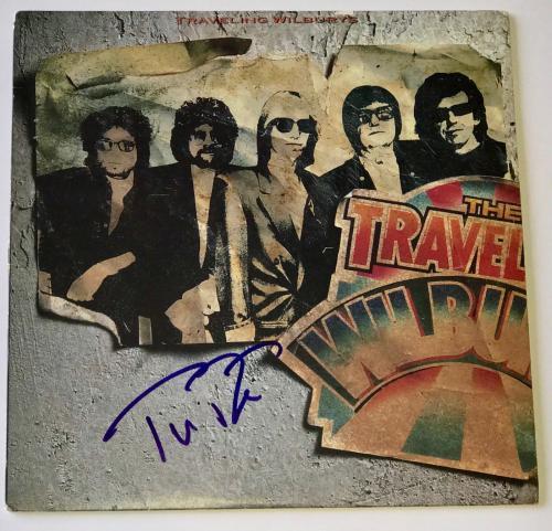 Tom Petty signed Traveling Wilburys album lp vol. 1 autographed Jsa coa