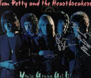 Tom Petty & The Heartbreakers Autographed LP Full Moon Fever Album Cover AFTAL