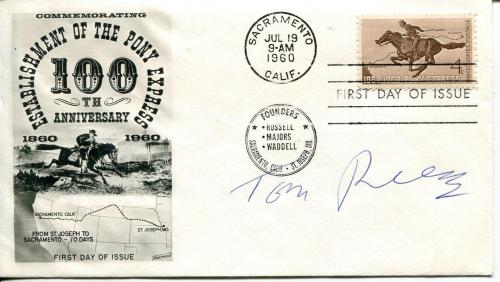Tom Reese Actor / The Twilight Zone & Untouchables Signed Fdc Envelope Autograph