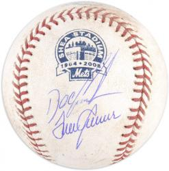 Tom Seaver and Dwight ''Doc'' Gooden New York Mets Autographed Game-Used Final Season Baseball - Mounted Memories