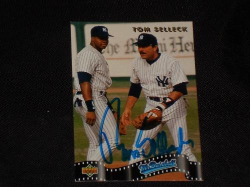 Tom Selleck 1992 Upper Deck Sp Signed Autographed Card #sp4 Yankees