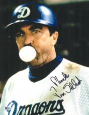 "Tom Selleck Autographed 11"" x 14"" Mr. Baseball Gum Photograph - BAS COA"