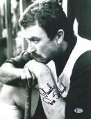 "Tom Selleck Autographed 11"" x 14"" Mr. Baseball Leaning on Bat Photograph - BAS COA"