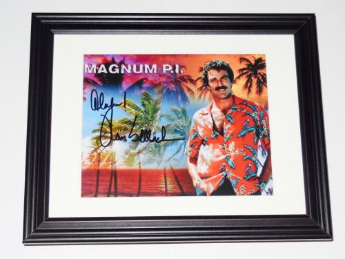 Tom Selleck Autographed 8x10 Color Photo (framed & Matted) - Magnum Pi!